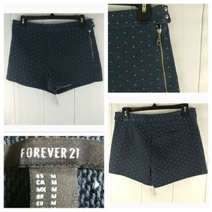 🌴3/$20 Forever 21 Side Zip Polka Dot Tweed Shorts